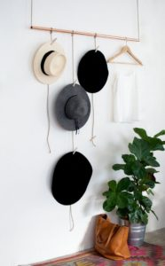 hanging rod hat rack
