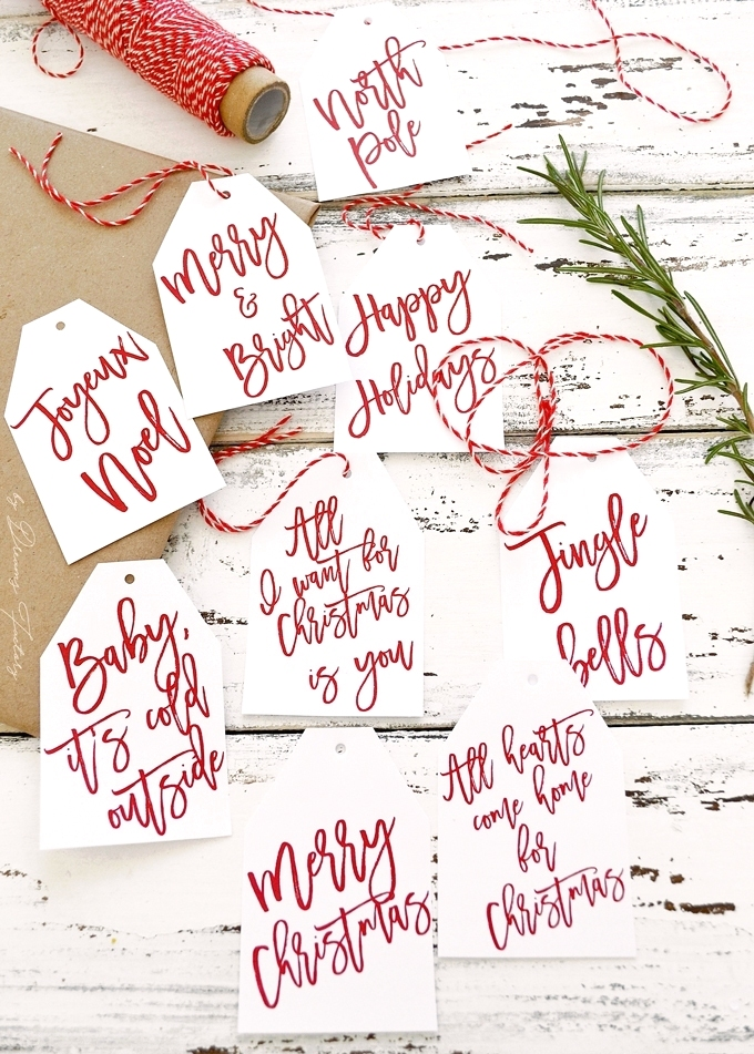 These 100+ Free Christmas Printables Are The CUTEST! I love how there's something for everyone from wine bottle tags to wall art.