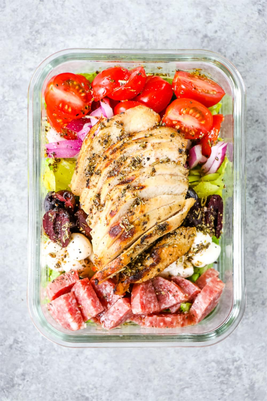 Italian Chicken Salad Meal Prep Recipe