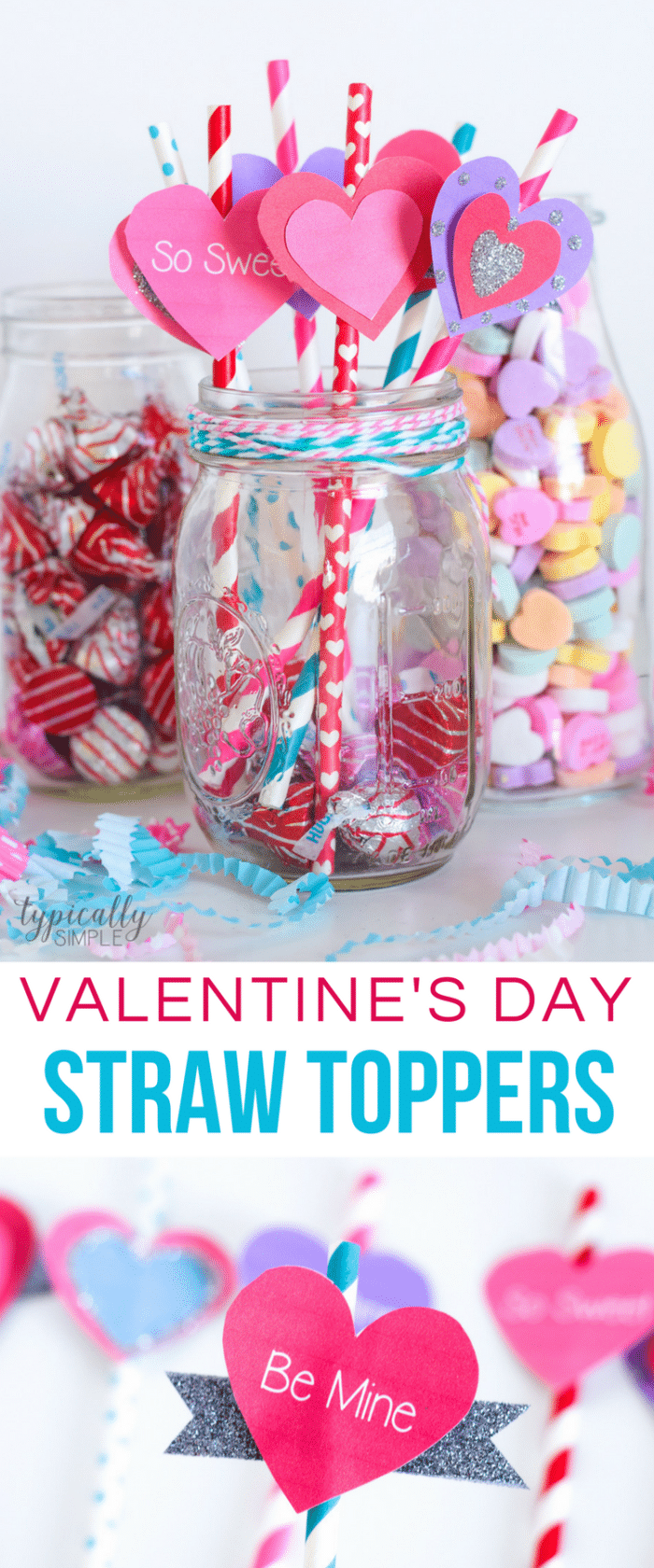 Valentines Day Straw Toppers Party Idea 700x1680 Diybunker