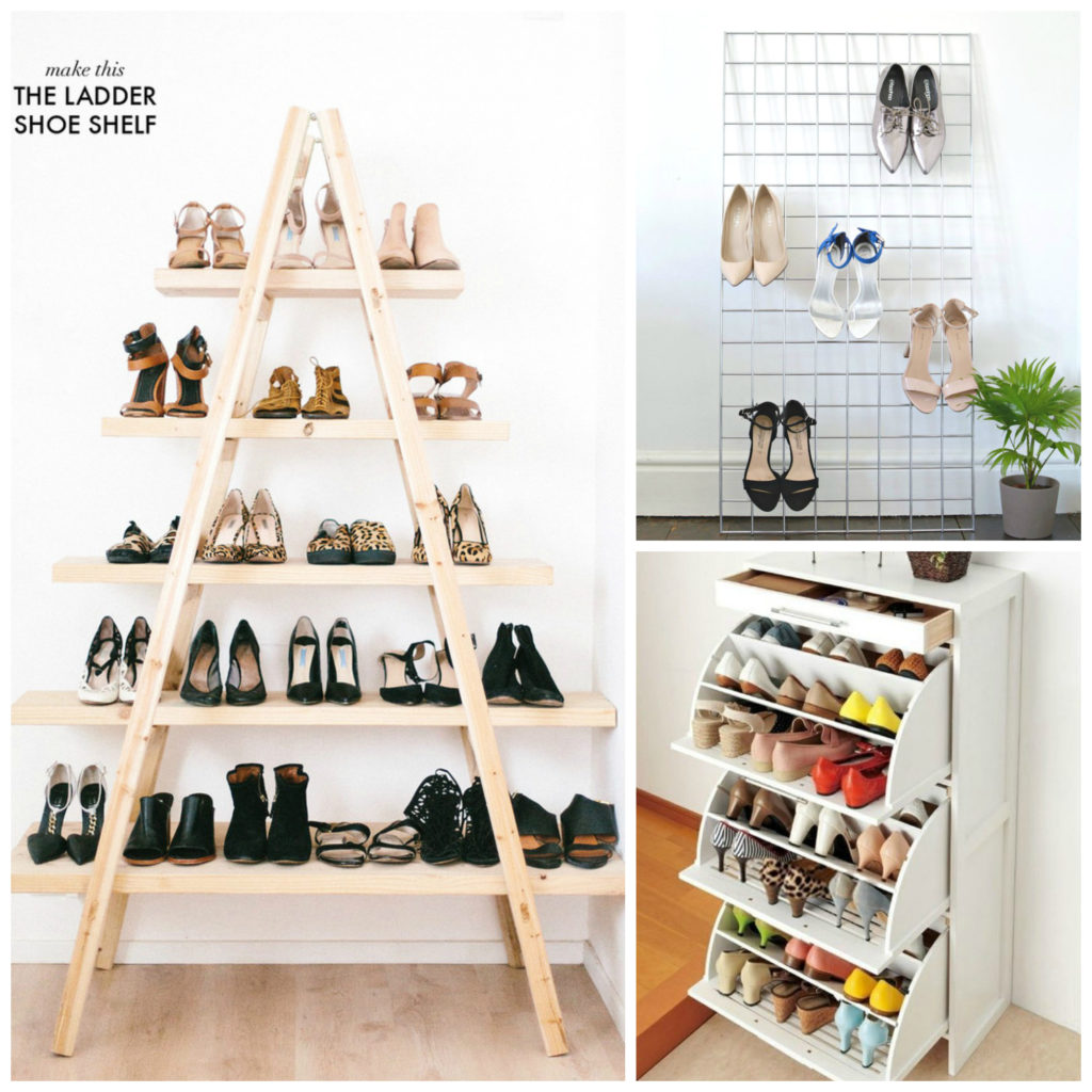 These 9 Shoe Shoe Storage Ideas Are Total LIFE SAVERS! Definitely re pinning to copy later!