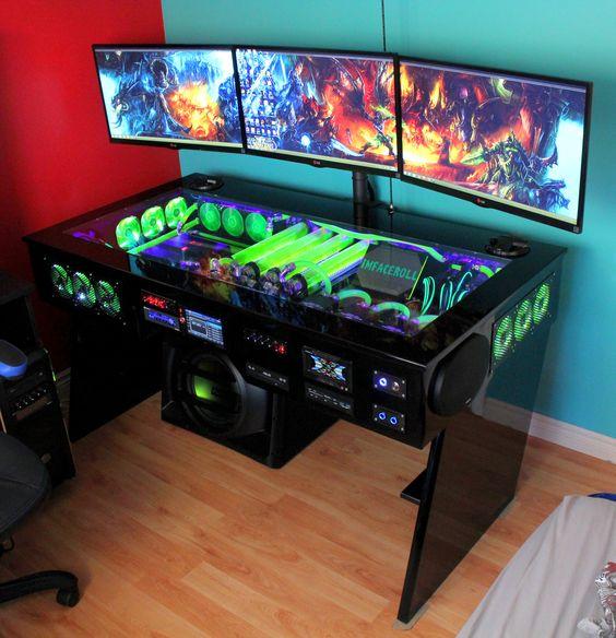 Custom Desk PC Gaming Setup