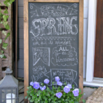 Ever put a chalkboard on your front porch? You might start after you see how good this one looks!