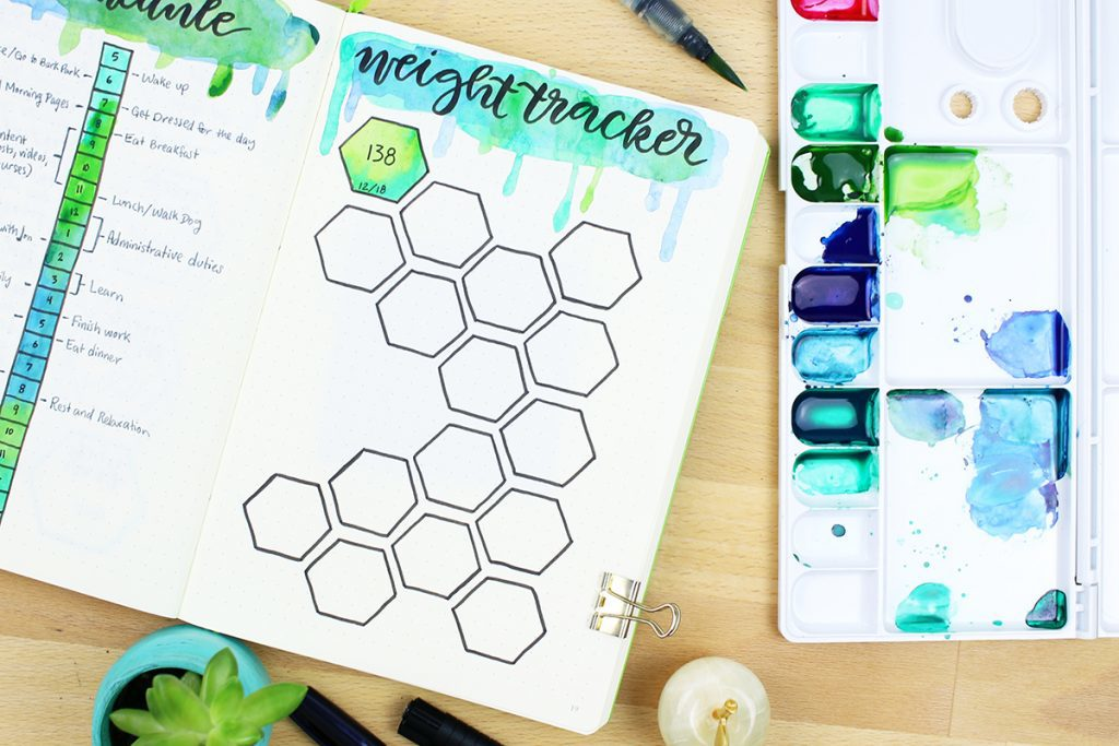 Weight Tracker Bullet Journal Idea