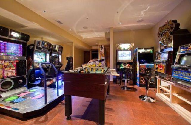 Arcade Gaming Room Setup