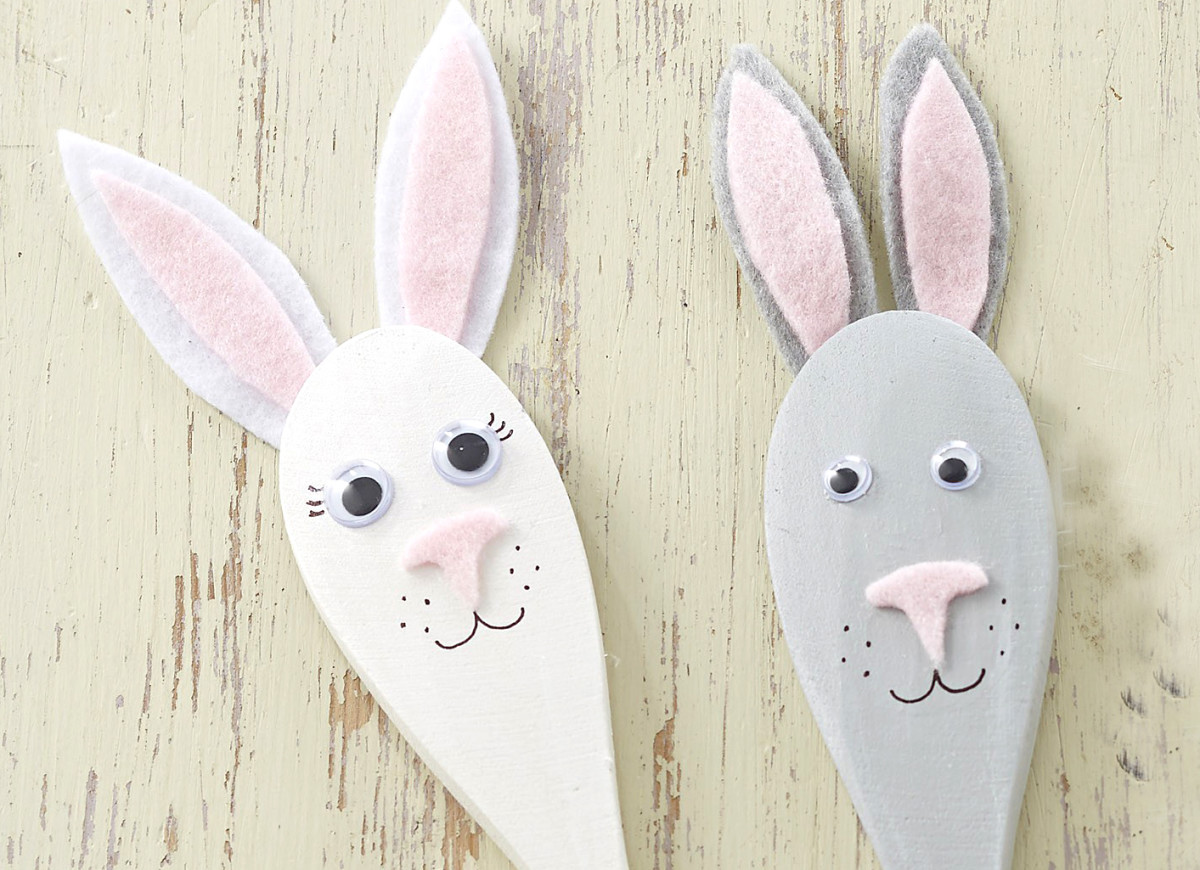 Easter Bunny Utensil Craft for Kids