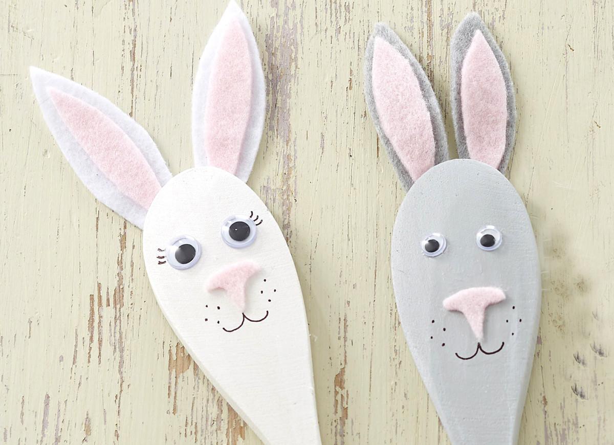 Easter Bunny Utensil Craft for Kids