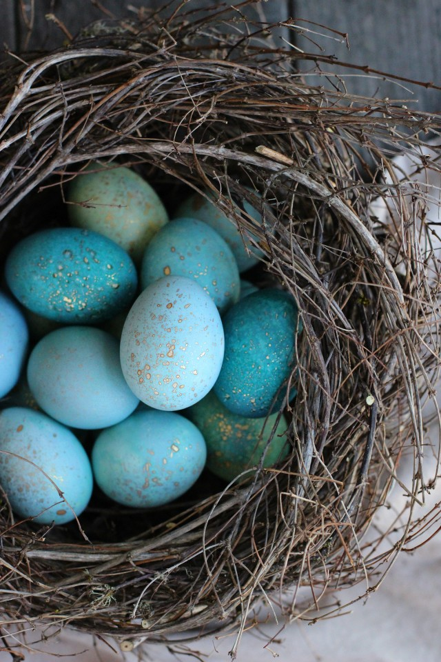 Easter Egg Nest Home Decor