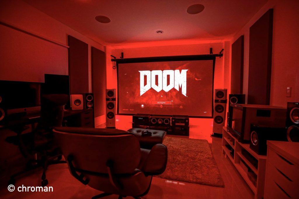 Doom Theme Gaming Room Idea