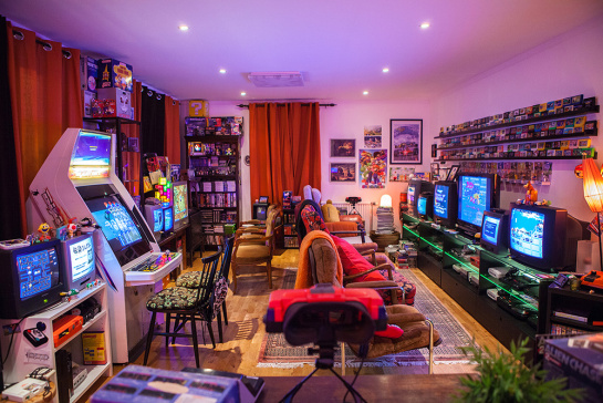 Retro Video Game Room Setup