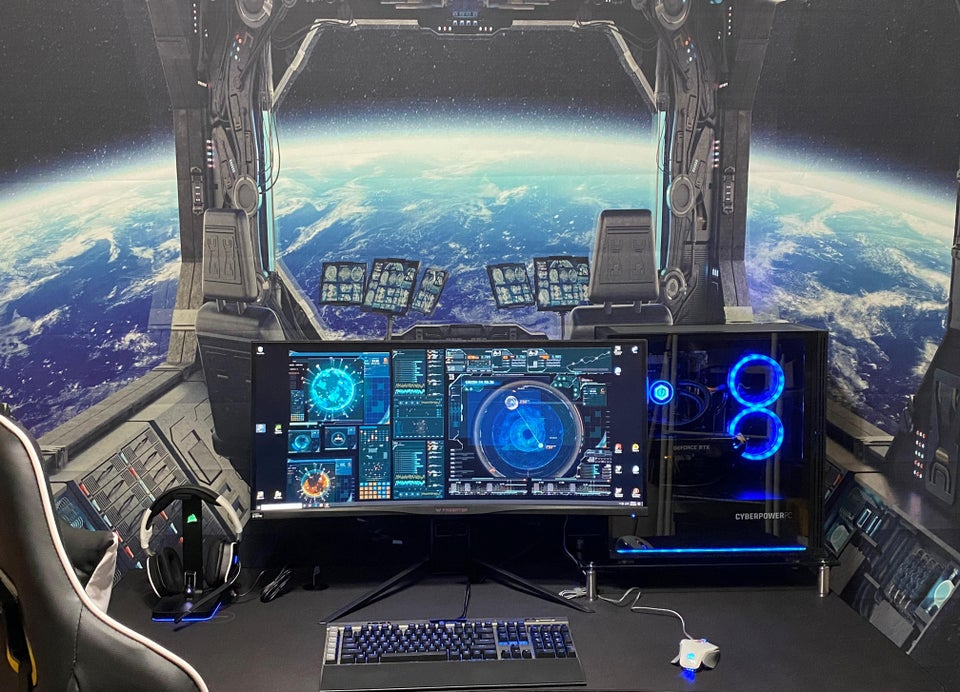 Outer Space Themed Gaming Room