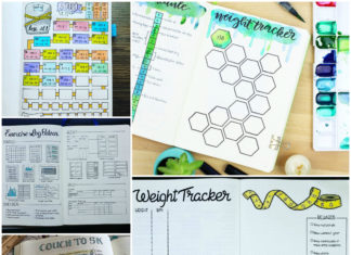 These 12 Weight Loss Bullet Journal Fitness Planner Ideas Are INCREDIBLE!