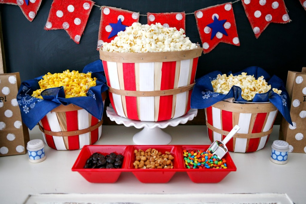 4th of July Popcorn Bar
