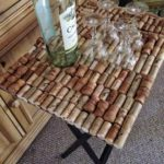 This wine cork side table is so awesome!