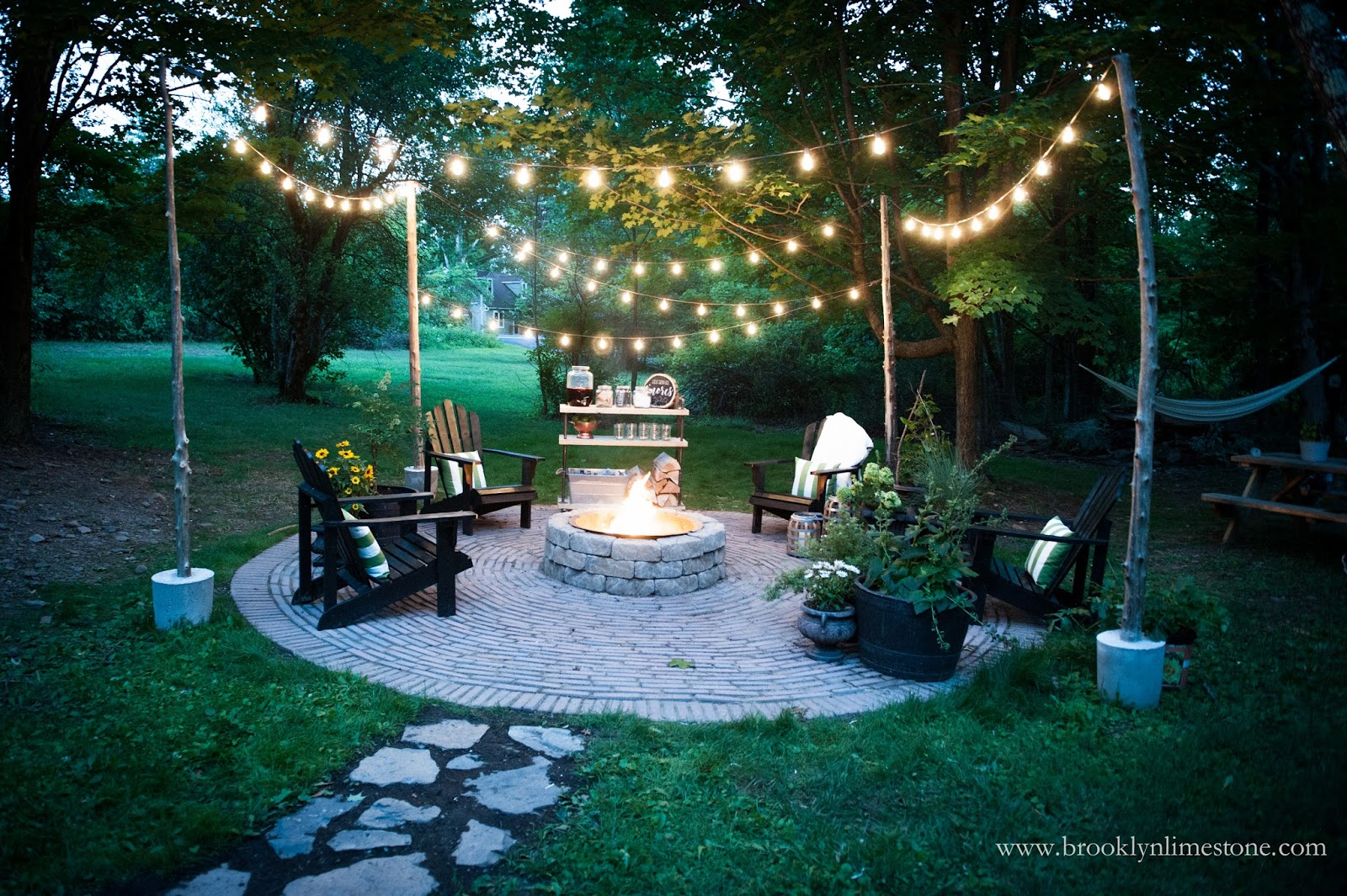 Circular Fire Pit Patio DIY