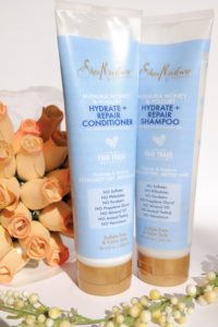 SheaMoisture Hydrate and Repair Shampoo and Conditioner for Damaged hair. #sheamoisture #beauty