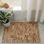 This moisture resistant material found in your home can make the most gorgeous bath mat.