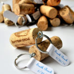 Make your keys easier to find with this wine cork key chain!