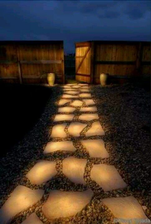 Glowing Stepping Stones DIY Backyard