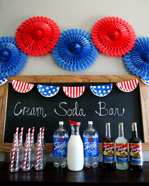 Red White and Blue Cream Soda Bar