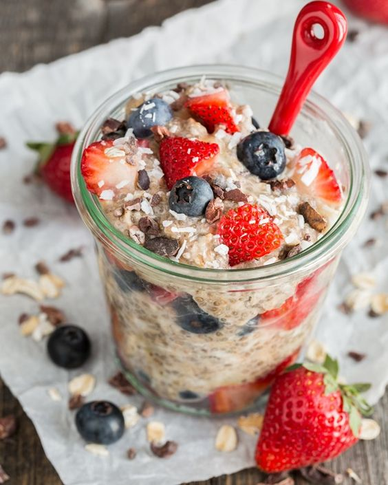 Berry & Chia Overnight Oats