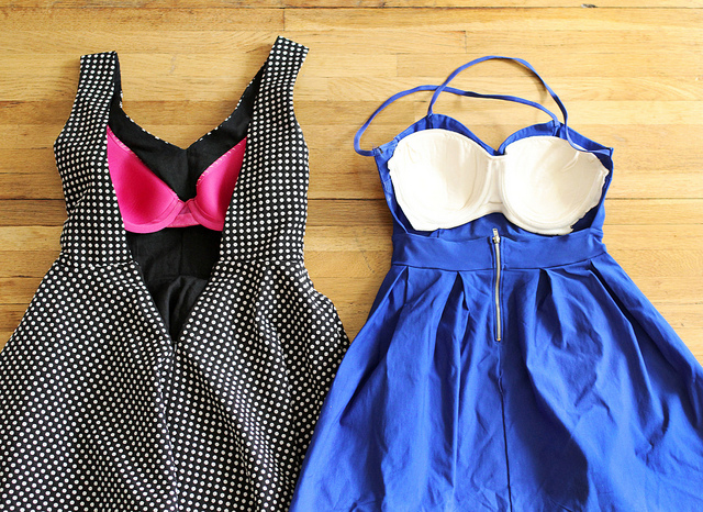 How to Sew Your Bra Into a Dress