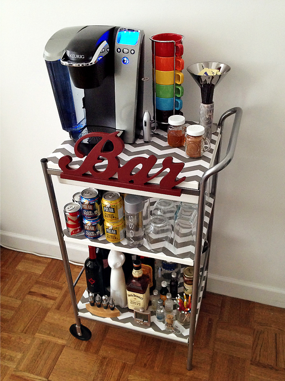IKEA Coffee Bar Cart DIY