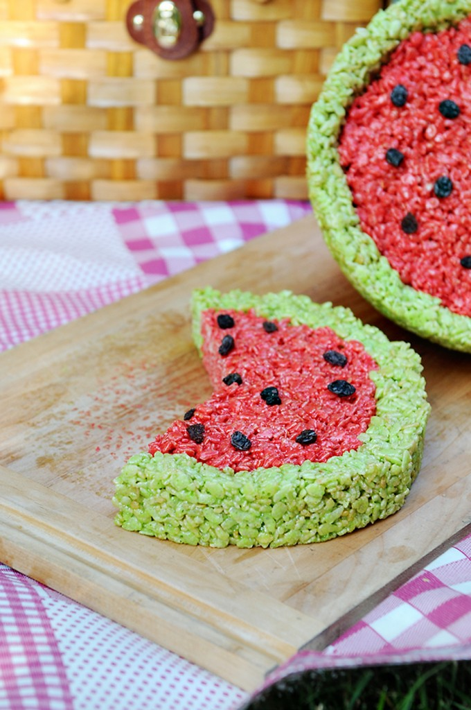 Watermelon Rice Krispies