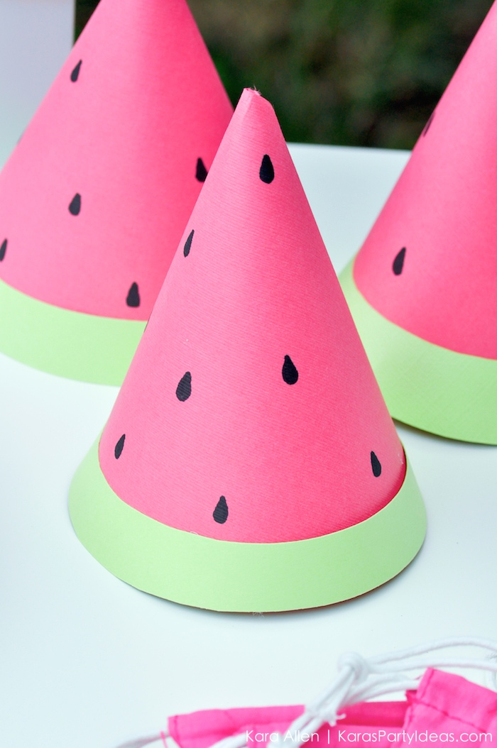Watermelon Hats Party DIY