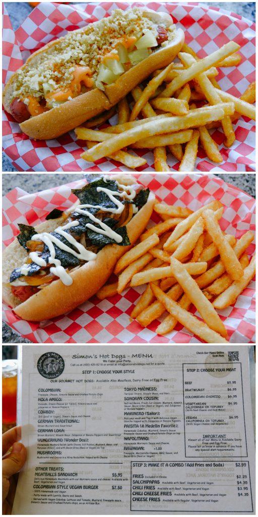 Vegan Hot Dogs at Simon's Hot Dogs in Scottsdale, AZ