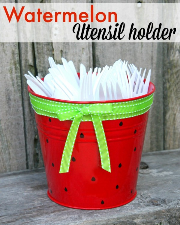 Watermelon Party Utensil Holder