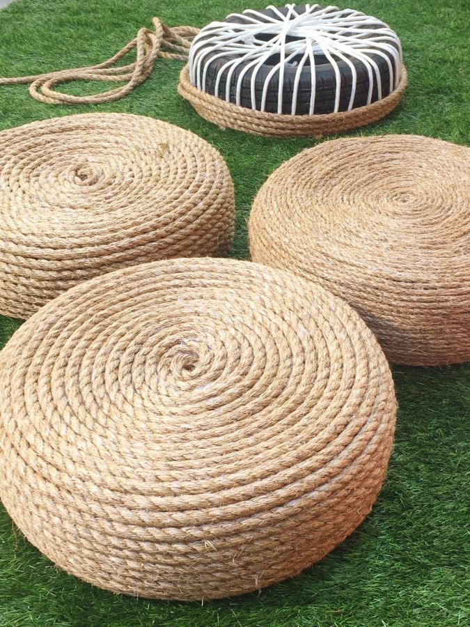 DIY Backyard Rope Chairs From Old Tires | Outdoor Seating Project