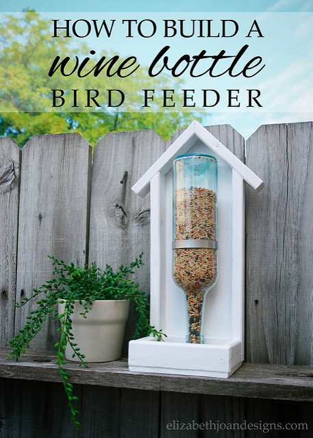 DIY Bird Feeder From Old Recycled Wine Bottle