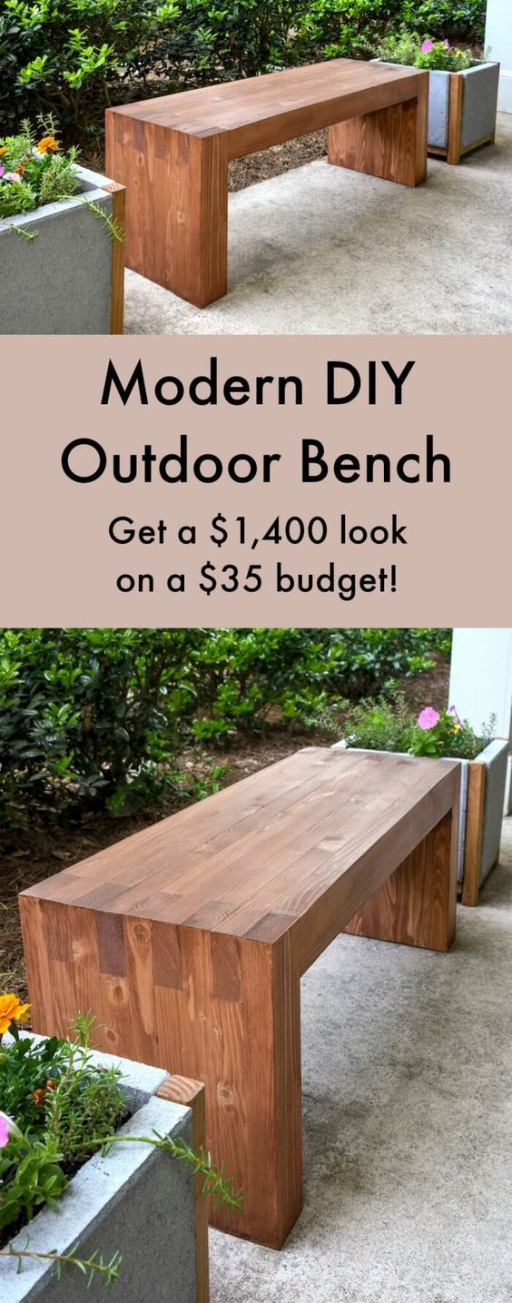 Williams Sonoma Inspired DIY Backyard Bench