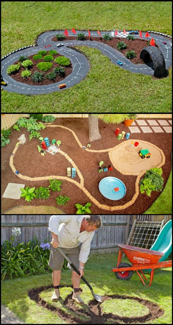 DIY Backyard Car Racing Track for Kids