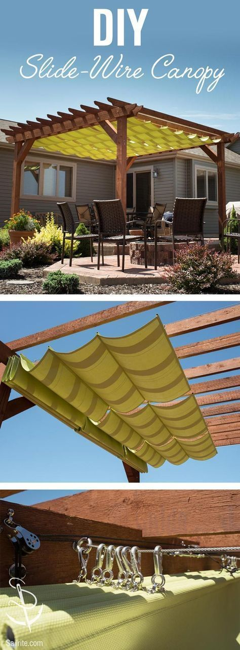 DIY Shade Shelter Slide-Wire Canopy for Your Backyard