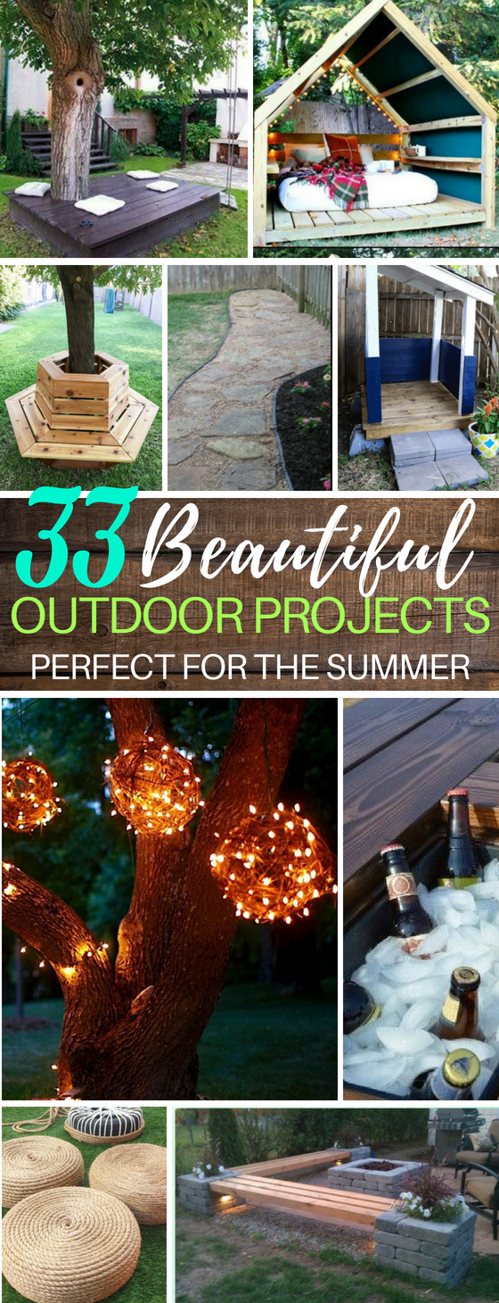 33 DIY Backyard Projects You Can Try Today | DIY Benches | DIY Lights | Fire Pits | Water Park Backyard