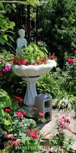 Old BIrd Bath Planter Garden
