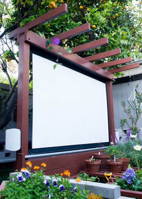 DIY Backyard Home Theater Project