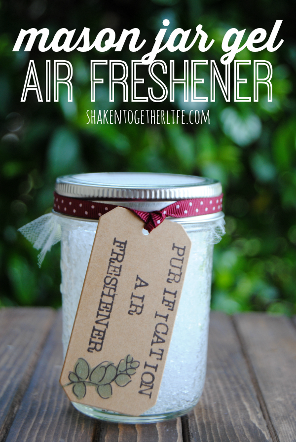 DIY Mason Jar Gel Air Freshener