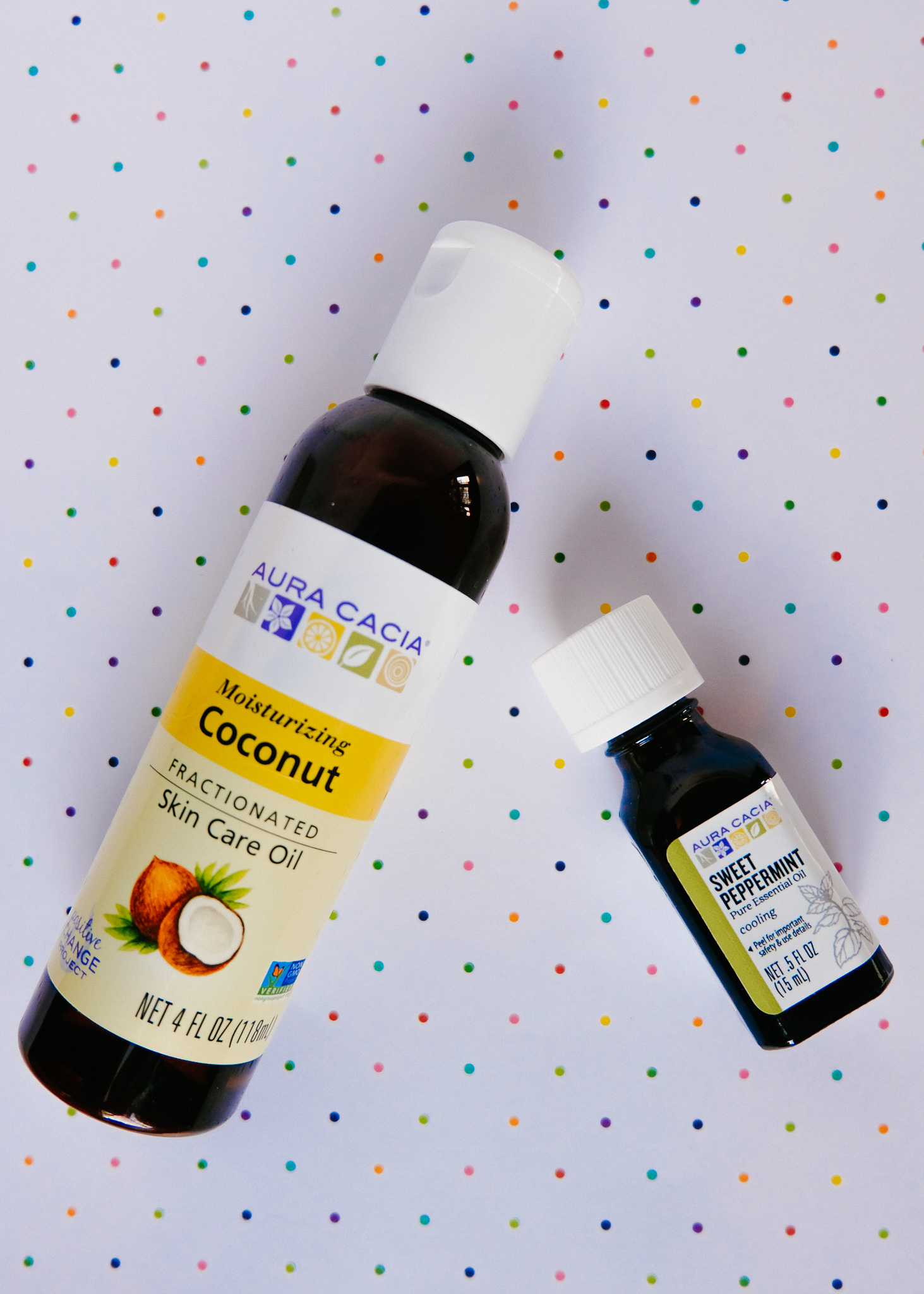 Aura Cacia Coconut Oil and Sweet Peppermint Oil