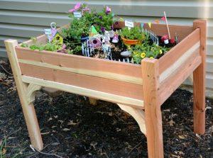 Raised Fairy Garden Bed