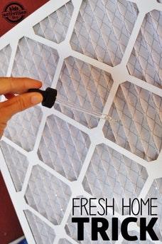 Fresh Home Air Filter Trick