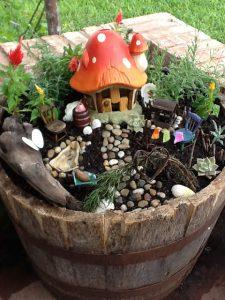 Mushroom House Fairy Garden