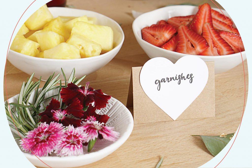 Mimosa Garnishes
