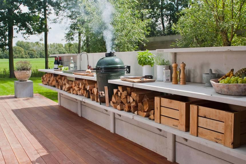 Eco Friendly Backyard Kitchen