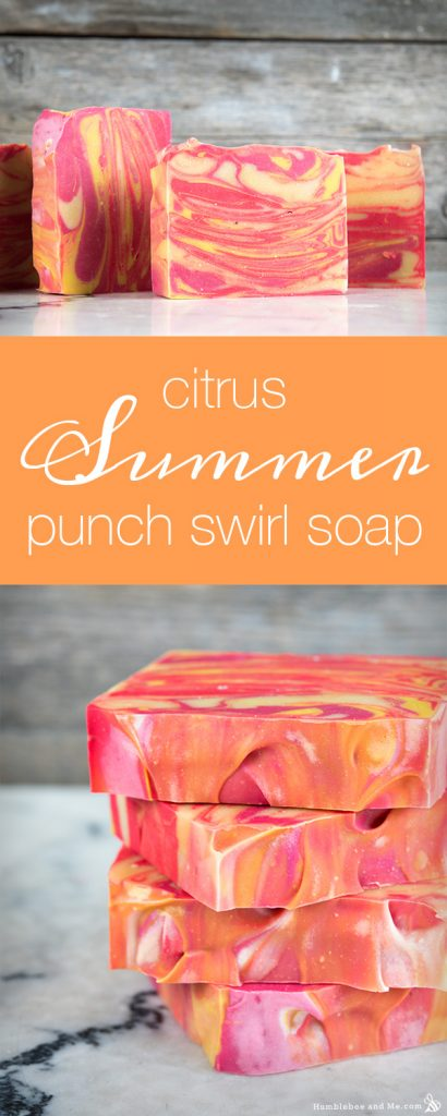 Citrus Summer Punch Swirl Soap
