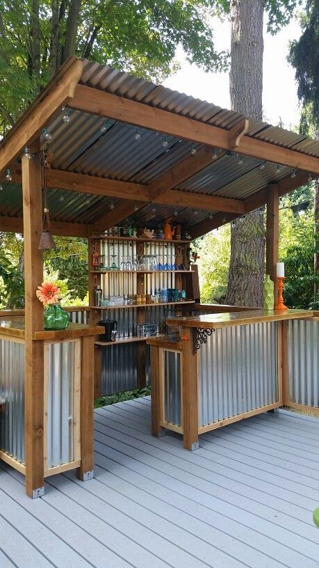 Aluminum Backyard Kitchen