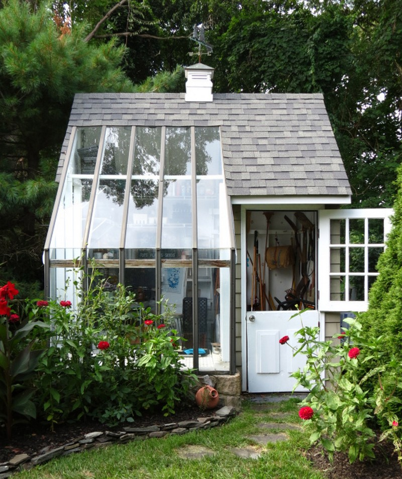 DIY Glass Shed for Your Backyard