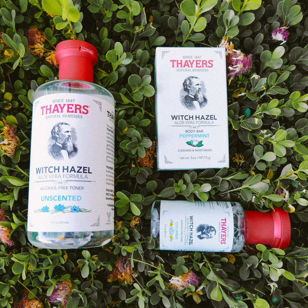 Thayer's Witch Hazel Toner, Travel Size Toner and Peppermint Body Bar for Men